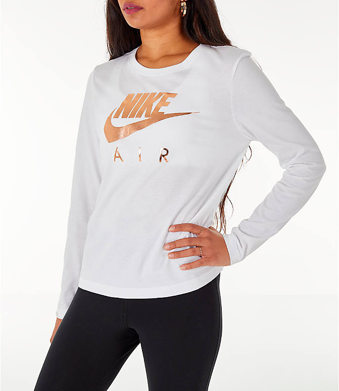 Front Three Quarter view of Women's Nike Sportswear Air Long-Sleeve T-Shirt