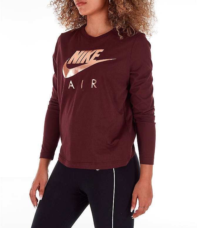 0f2c8257 Front Three Quarter view of Women's Nike Sportswear Air Long-Sleeve T-Shirt  in