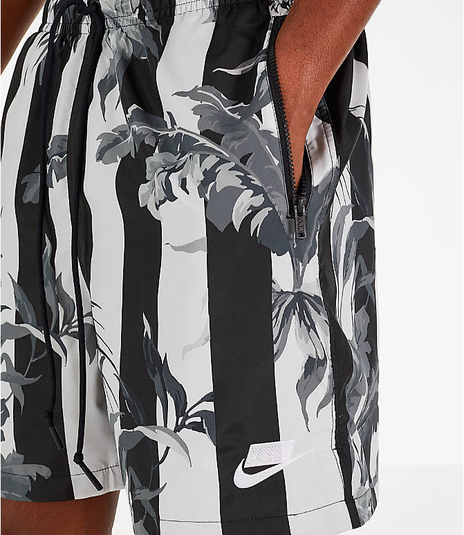 Detail 1 view of Men's Nike Sportswear Floral Soccer Shorts in Black/White