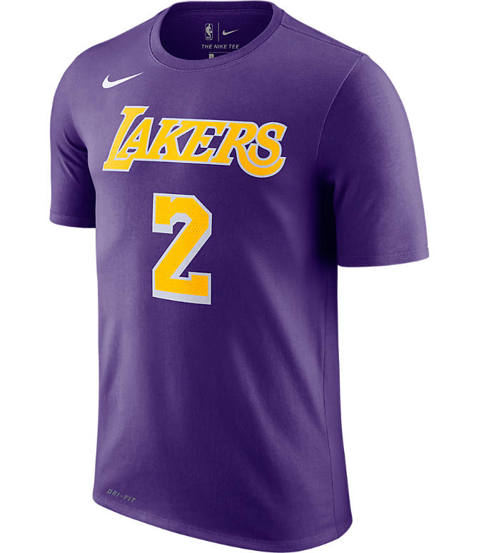 Back view of Men s Nike Los Angeles Lakers NBA Lonzo Ball Name and Number T- 1cd9be188