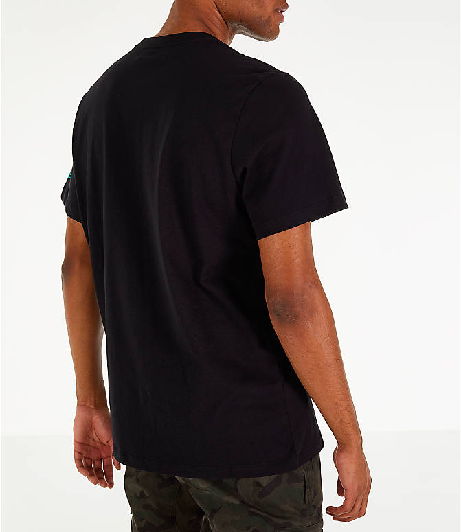Back Right view of Men's Nike Sportswear Have a Nike Day T-Shirt in Black/Jade