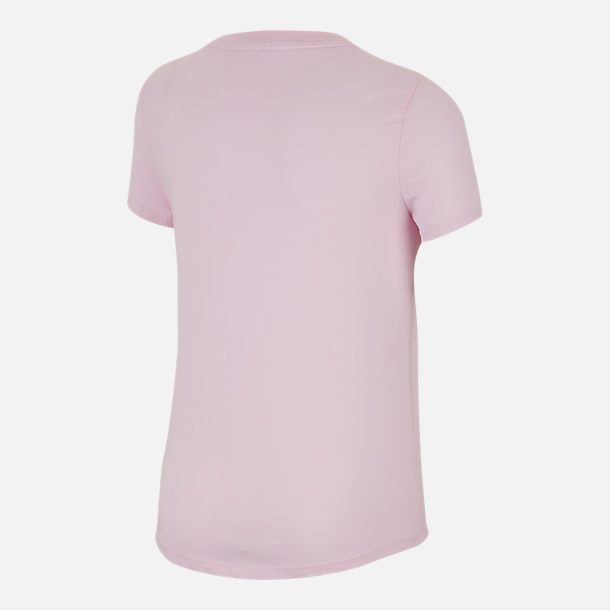 Back view of Girls' Nike Sportswear Sorry Not Sorry T-Shirt in Pink Foam