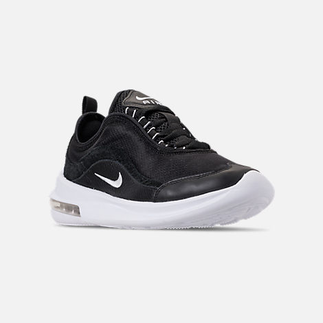 Three Quarter view of Women's Nike Air Max Estrea Casual Shoes in Black/White/Anthracite