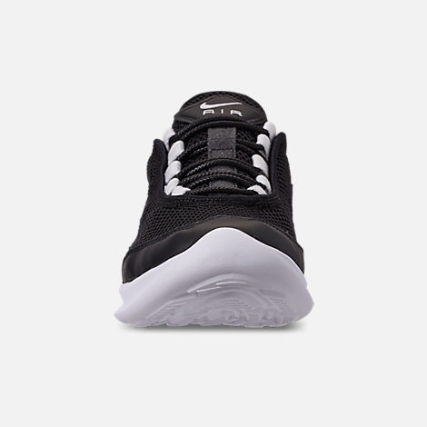 Front view of Women's Nike Air Max Estrea Casual Shoes in Black/White/Anthracite