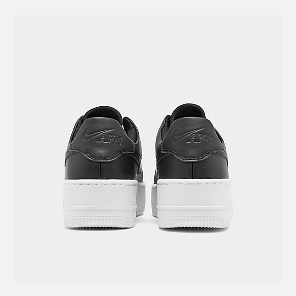 Left view of Women's Nike Air Force 1 Sage XX Low Casual Shoes in Black/Black/White