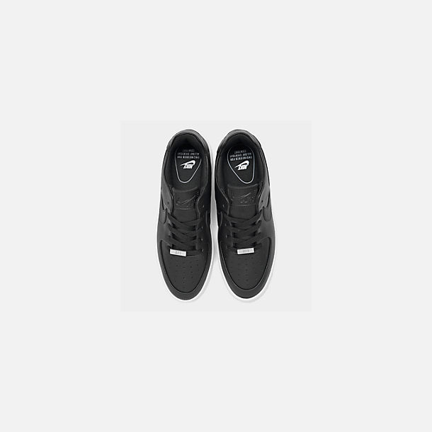 Back view of Women's Nike Air Force 1 Sage XX Low Casual Shoes in Black/Black/White