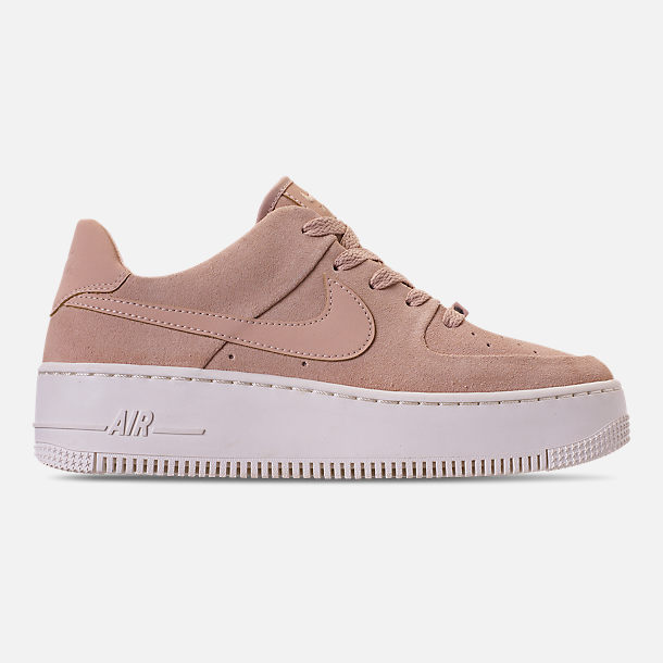 Right view of Women's Nike AF1 Sage XX Low Casual Shoes in Particle Beige/Particle Beige/Phantom