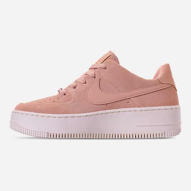 Left view of Women's Nike AF1 Sage XX Low Casual Shoes in Particle Beige/Particle Beige/Phantom