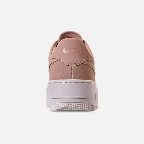 Back view of Women's Nike AF1 Sage XX Low Casual Shoes in Particle Beige/Particle Beige/Phantom