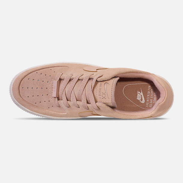 Top view of Women's Nike AF1 Sage XX Low Casual Shoes in Particle Beige/Particle Beige/Phantom