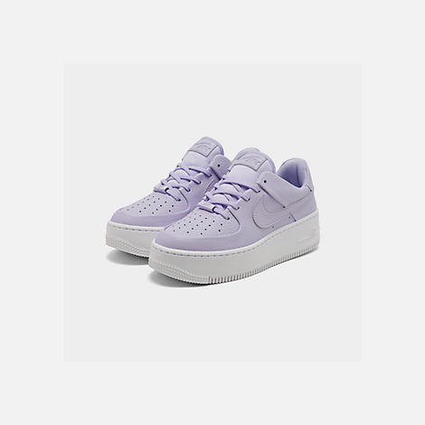 Three Quarter view of Women's Nike AF1 Sage XX Low Casual Shoes