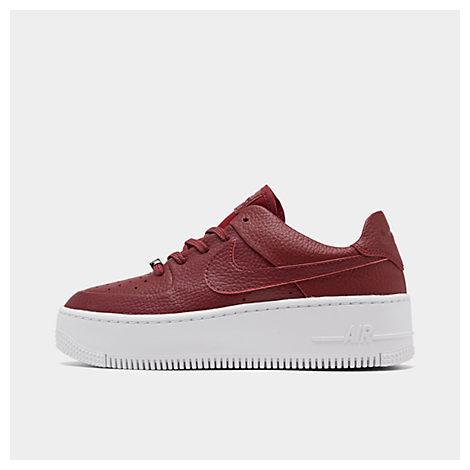 Nike Air Force 1 Sage Low Platform Sneaker In Red