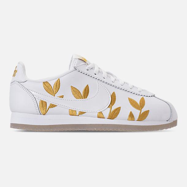 Womens Nike White Cortez Shoes Women s Nike White Socks With Pink ... 3336510aa