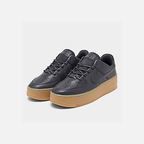 sports shoes 70f07 f2f1c Three Quarter view of Women s Nike Air Force 1 Sage Low LX Casual Shoes in  Oil