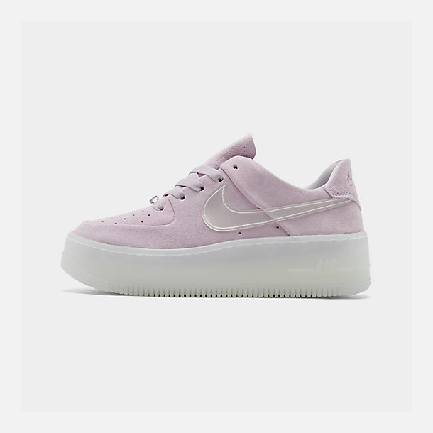 Right view of Women's Nike Air Force 1 Sage Low LX Casual Shoes in Violet Mist/Violet Mist