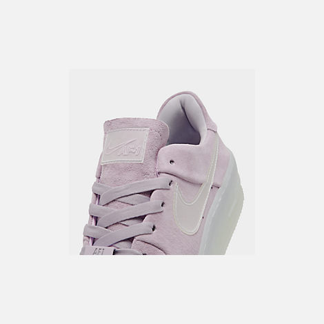 Front view of Women's Nike Air Force 1 Sage Low LX Casual Shoes in Violet Mist/Violet Mist