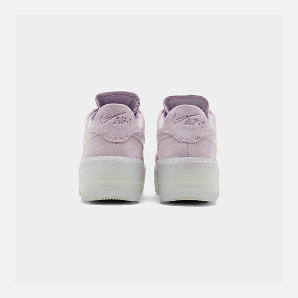 Left view of Women's Nike Air Force 1 Sage Low LX Casual Shoes in Violet Mist/Violet Mist