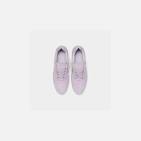 Back view of Women's Nike Air Force 1 Sage Low LX Casual Shoes in Violet Mist/Violet Mist