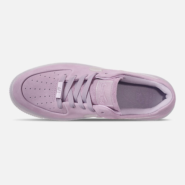 Top view of Women's Nike Air Force 1 Sage Low LX Casual Shoes in Violet Mist/Violet Mist