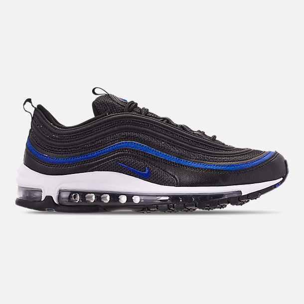 Right view of Men's Nike Air Max 97 OG Casual Shoes in Anthracite/Black/Racer Blue