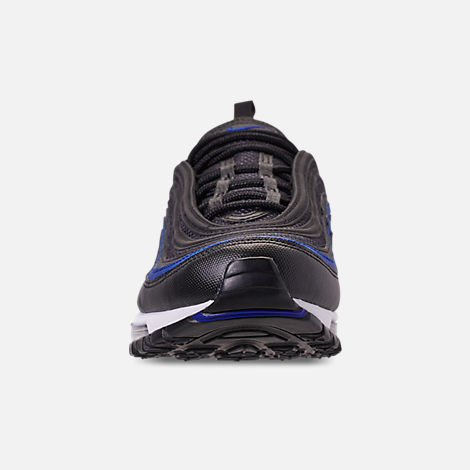 Front view of Men's Nike Air Max 97 OG Casual Shoes in Anthracite/Black/Racer Blue