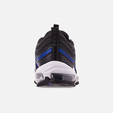 Back view of Men's Nike Air Max 97 OG Casual Shoes in Anthracite/Black/Racer Blue