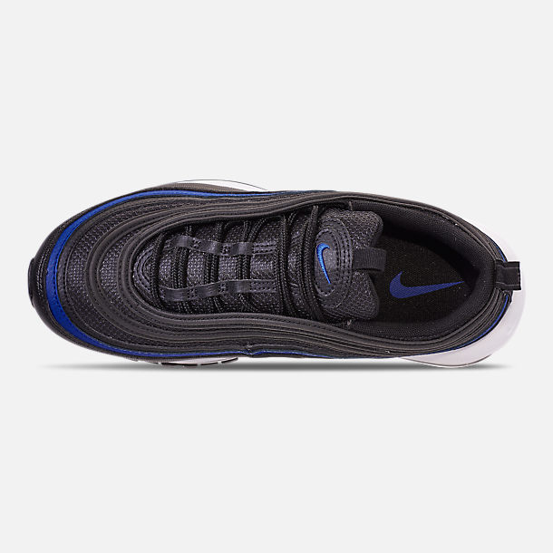 Top view of Men's Nike Air Max 97 OG Casual Shoes in Anthracite/Black/Racer Blue