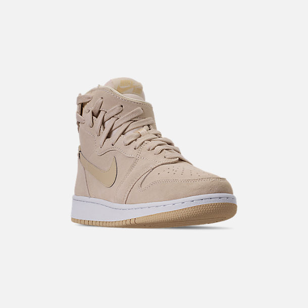 Three Quarter view of Women's Air Jordan 1 Rebel XX Casual Shoes in Light Cream/Desert/White