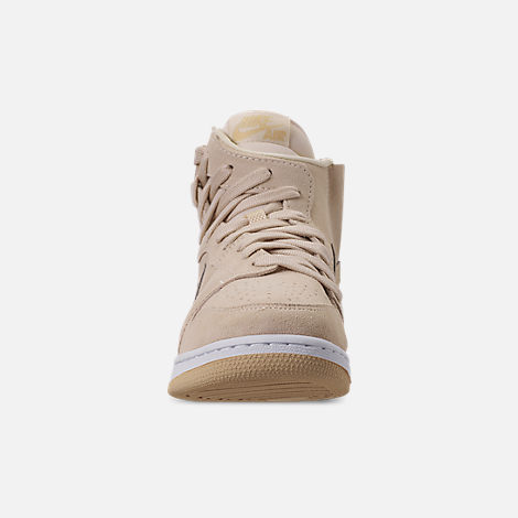 Front view of Women's Air Jordan 1 Rebel XX Casual Shoes in Light Cream/Desert/White