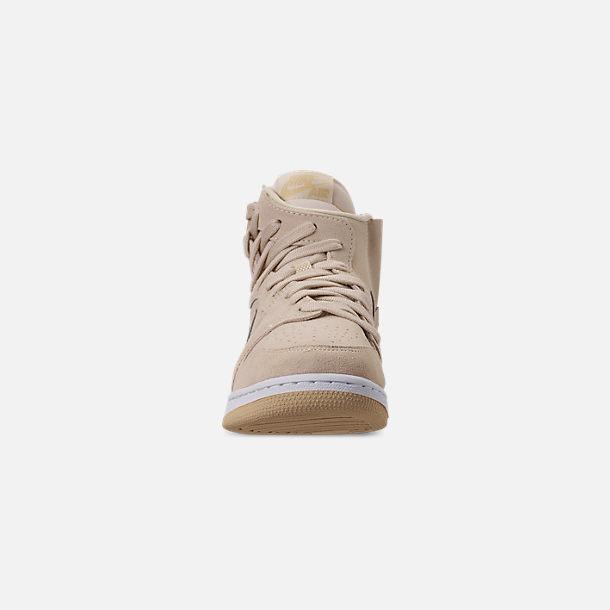 8f57abce74e Front view of Women's Air Jordan 1 Rebel XX Casual Shoes in Light Cream /Desert
