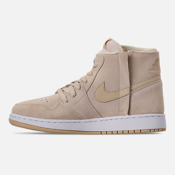 Left view of Women's Air Jordan 1 Rebel XX Casual Shoes in Light Cream/Desert/White