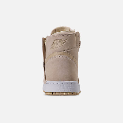 Back view of Women's Air Jordan 1 Rebel XX Casual Shoes in Light Cream/Desert/White