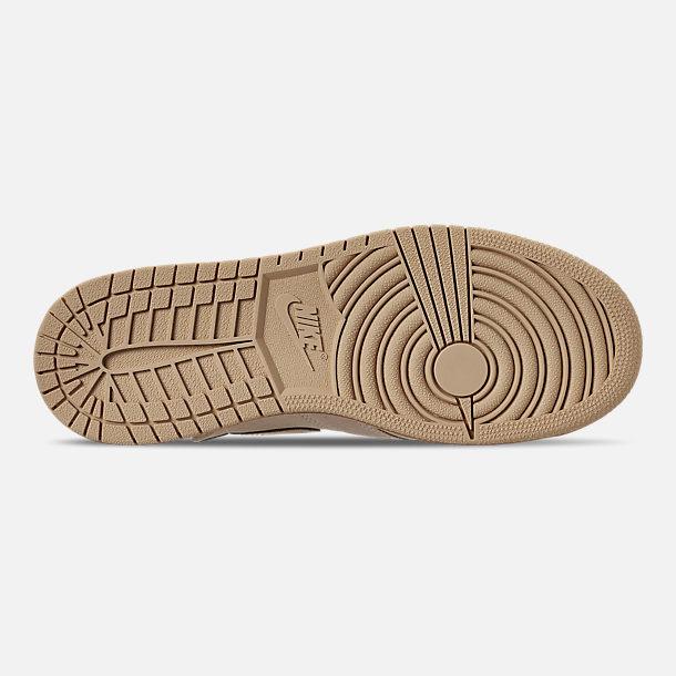 edba42fd549 Bottom view of Women's Air Jordan 1 Rebel XX Casual Shoes in Light Cream /Desert