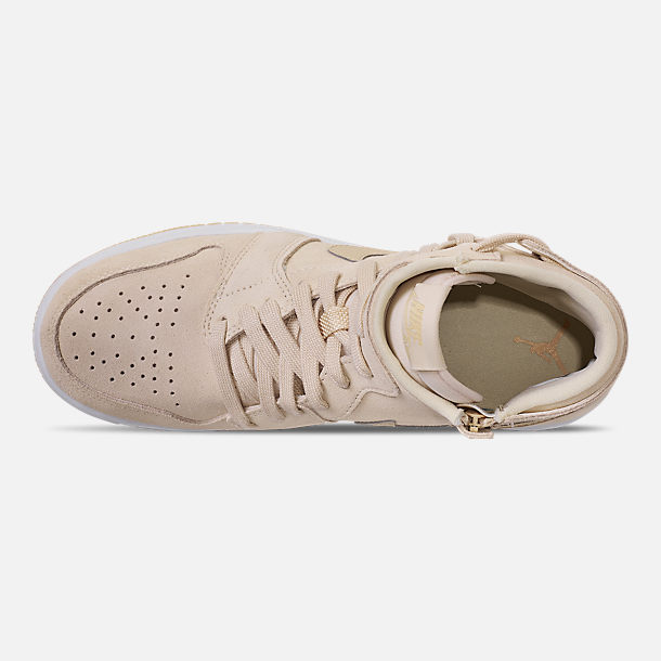 Top view of Women's Air Jordan 1 Rebel XX Casual Shoes in Light Cream/Desert/White