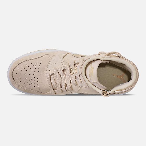 e542172d843 Top view of Women's Air Jordan 1 Rebel XX Casual Shoes in Light Cream/Desert
