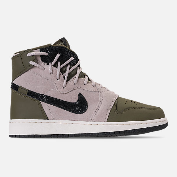 the best attitude cda03 743b2 Right view of Women s Air Jordan 1 Rebel XX Casual Shoes in Olive Canvas