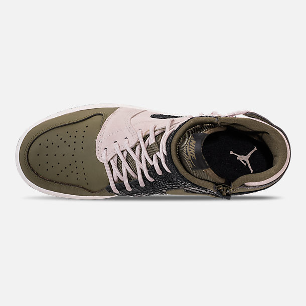 57b0492317b Top view of Women s Air Jordan 1 Rebel XX Casual Shoes in Olive Canvas