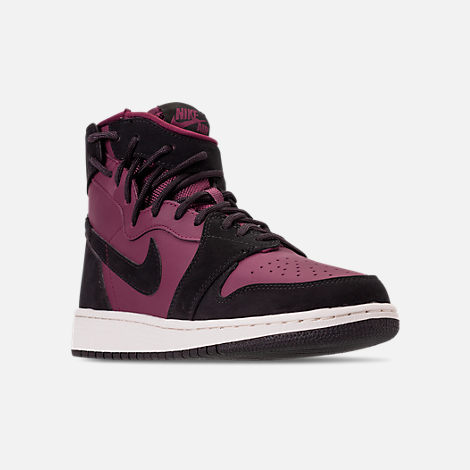 53ada614cdfd3f Three Quarter view of Women s Air Jordan 1 Rebel XX Casual Shoes in  Bordeaux Black