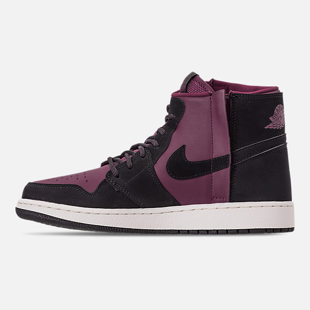 e1dfa85f773c Left view of Women s Air Jordan 1 Rebel XX Casual Shoes in Bordeaux Black
