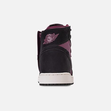 3ab66a3ae748 Back view of Women s Air Jordan 1 Rebel XX Casual Shoes in Bordeaux Black