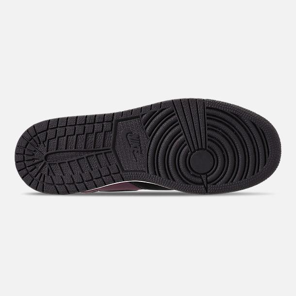 2ab709f8352 Bottom view of Women s Air Jordan 1 Rebel XX Casual Shoes in Bordeaux Black