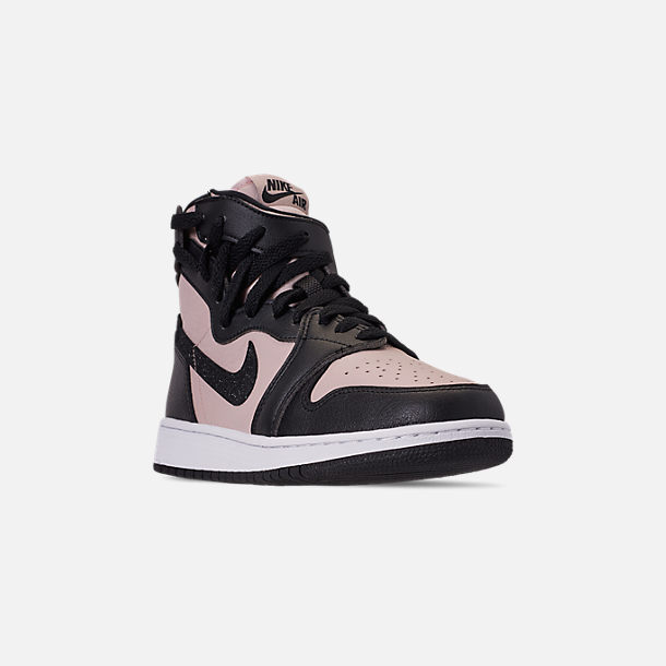 Three Quarter view of Women's Air Jordan 1 Rebel XX Casual Shoes in Split Red/Black/White