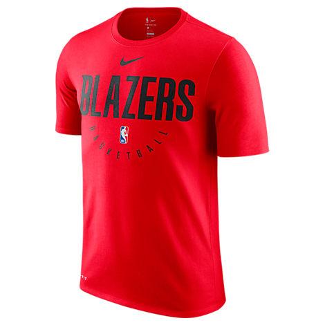 Men'S Portland Trail Blazers Nba Dri-Fit Practice T-Shirt, Red