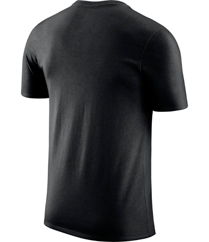 Back view of Men's Nike San Antonio Spurs NBA Dri-FIT Practice T-Shirt in Black