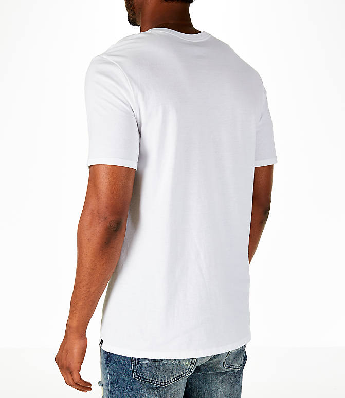 Back Left view of Men's Air Jordan Russell Westbrook Box T-Shirt in White/Black