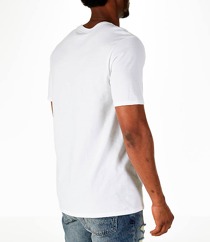 Back Right view of Men's Air Jordan Russell Westbrook Box T-Shirt in White/Black