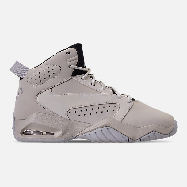 Right view of Boys' Big Kids' Air Jordan Lift Off Basketball Shoes in Light Bone/Reflect Silver/Grey Fog/Black