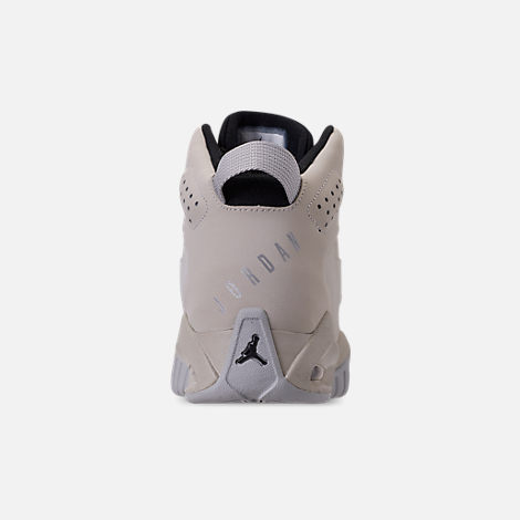 Back view of Boys' Big Kids' Air Jordan Lift Off Basketball Shoes in Light Bone/Reflect Silver/Grey Fog/Black