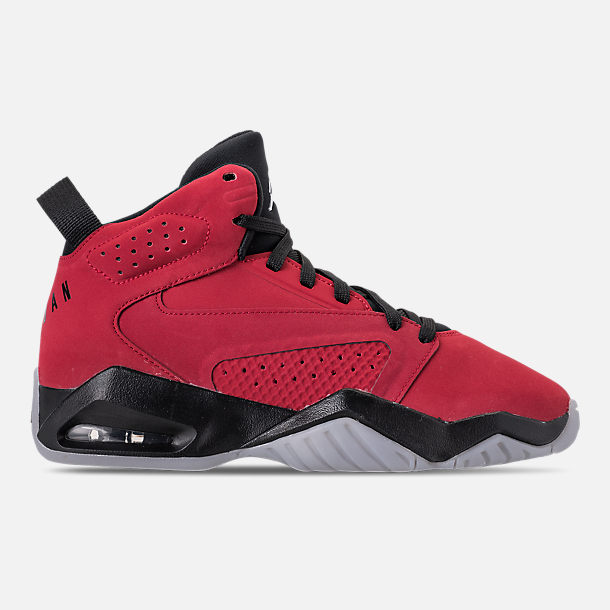 Right view of Boys' Big Kids' Air Jordan Lift Off Basketball Shoes in Gym Red/White/Black/Wolf Grey