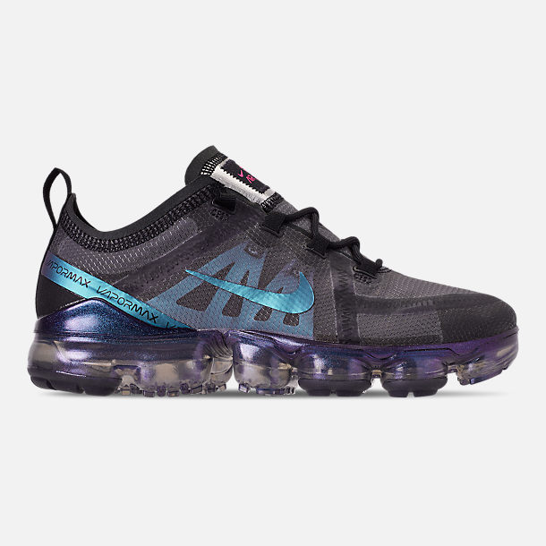 806b212ac3a8 Right view of Men s Nike Air VaporMax 2019 Running Shoes in Black Laser  Fuchsia
